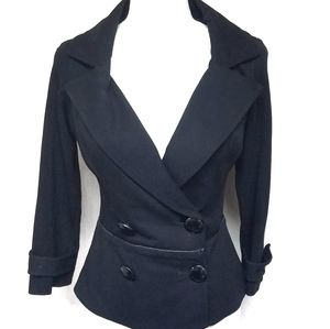 Cache Black Large Collar Quarter Sleeve Jacket